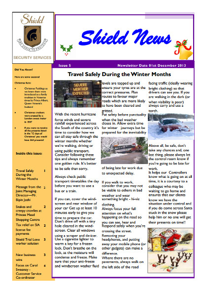 Dec Newsletter Cover